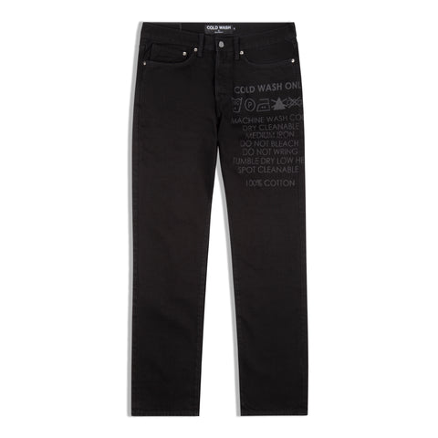 Lasered Jeans 1.0 Black