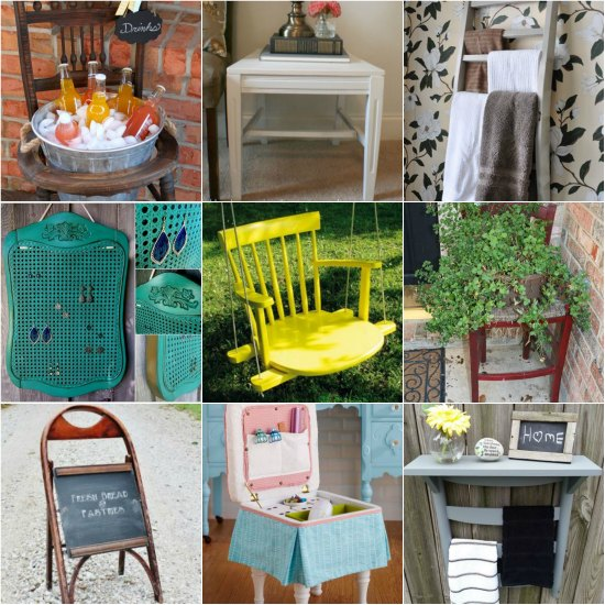 Ways to repurpose old chairs