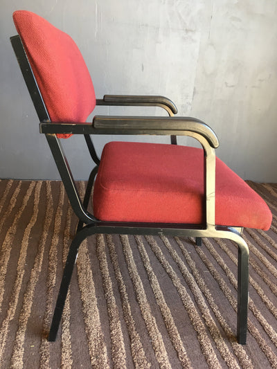 Metal Red Visitors Chair - 2ndhandwarehouse.com