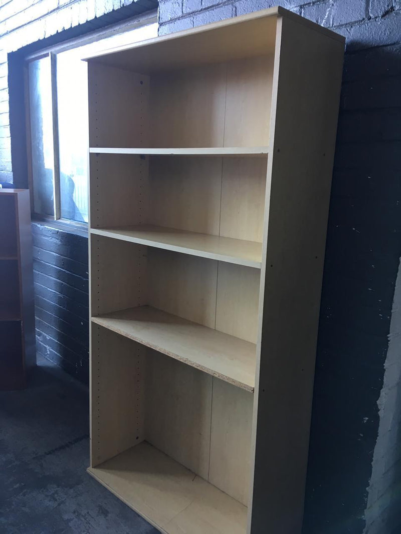 Large Light Oak Book Shelf