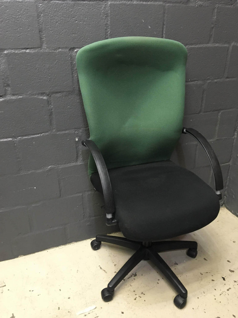 High Back Green/ Black Chair