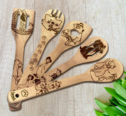 The Aristocats Wood-burned Spoons Set