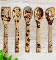 BABE Wood-burned Spoons Set - Sponilo