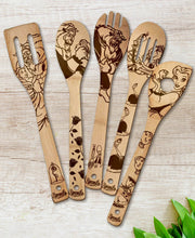 Beauty and the Beast Wood-burned Spoons Set