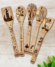 Cinderella Wood-burned Spoons Set