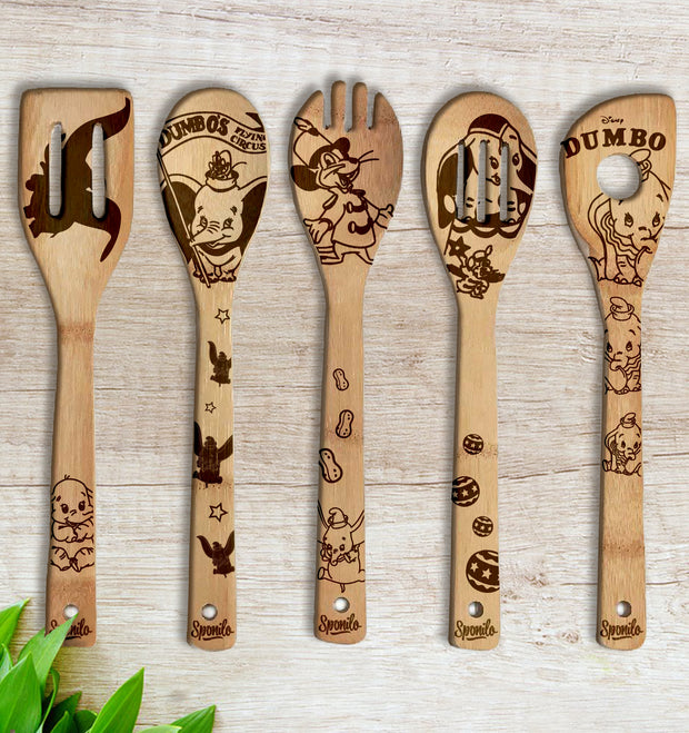 DUMBO Wood-burned Spoons Set