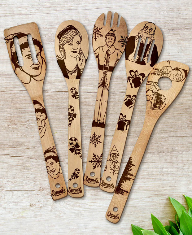 ELF Wood-burned Spoons Set - Sponilo