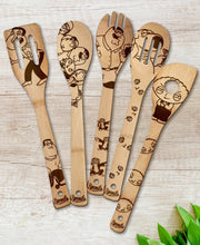 Family Guy Wood-burned Spoons Set