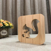 Squirrel Wood Lamp - Sponilo