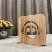 Headphones Music Wood Lamp - Sponilo