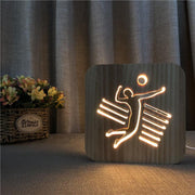 Volleyball Player Wood Lamp - Sponilo