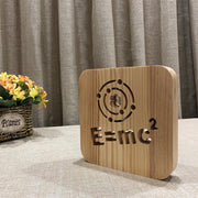 E=MC Squared Wood Lamp - Sponilo