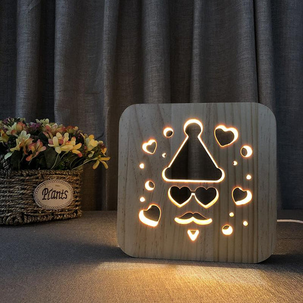 Hip Dude Wood Lamp - Sponilo