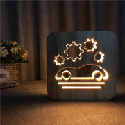 Sports Car Wood Lamp - Sponilo