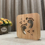 Footprints Wood Lamp - Sponilo