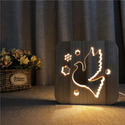 Dove Wood Lamp - Sponilo