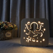 Octopus Wood Lamp - Sponilo