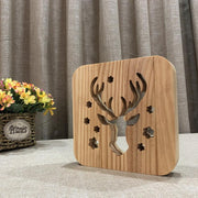 Reindeer Wood Lamp - Sponilo