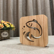 Fish Wood Lamp - Sponilo