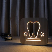 Tooth Wood Lamp - Sponilo