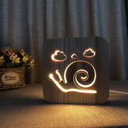 Snail Wood Lamp - Sponilo