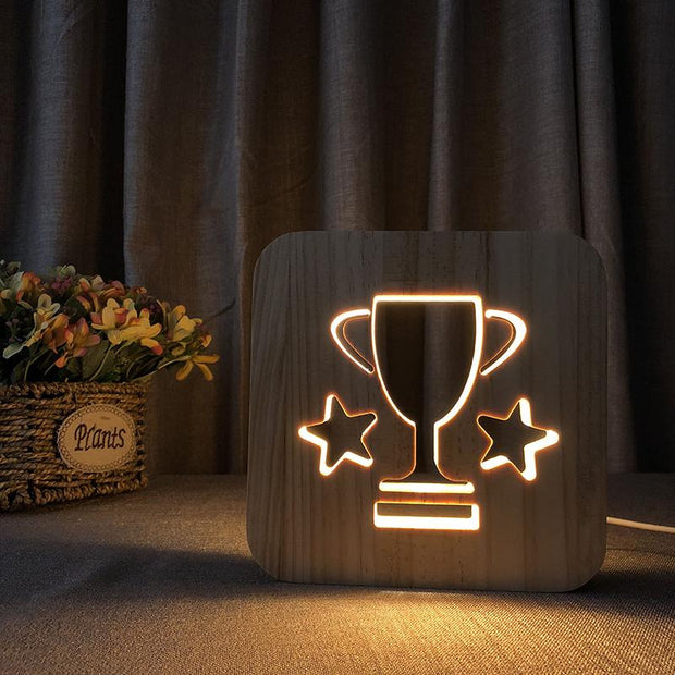 Trophy Wood Lamp - Sponilo
