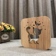 Cat Wood Lamp - Sponilo