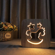 Rocking Horse Wood Lamp - Sponilo