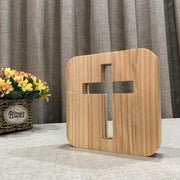 Cross Wood Lamp - Sponilo