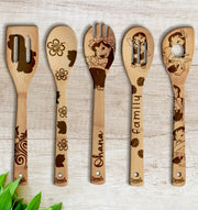 LILO Wood-burned Spoons Set
