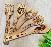 Pokémon Wood-burned Spoons Set