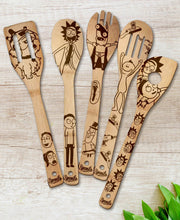 Rick and Morty Wood-burned Spoons Set - Sponilo