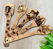 Spirited Away Wood-burned Spoons Set - Sponilo