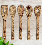 SpongeBob SquarePants Wood-burned Spoons Set - Sponilo