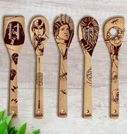 Star Wars Wood-burned Utensil Set