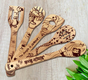 The Jungle Book Wood-burned Spoons Set