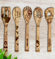The Little Mermaid Wood-burned Spoons Set
