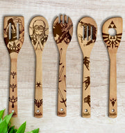 The Legend of Zelda Wood-burned Spoons Set