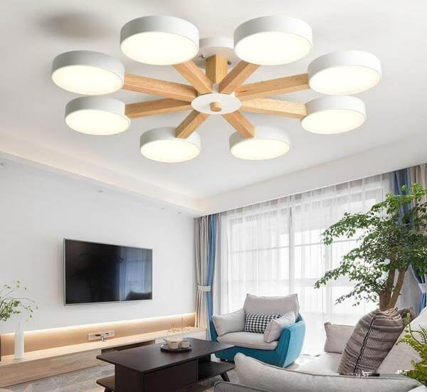 Modern Luxury Multi Stem Lamp Chandelier