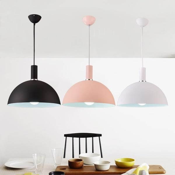Modern Nordic Round Lampshade Hanging Light