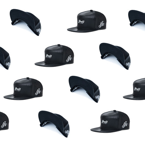perf leather strapback