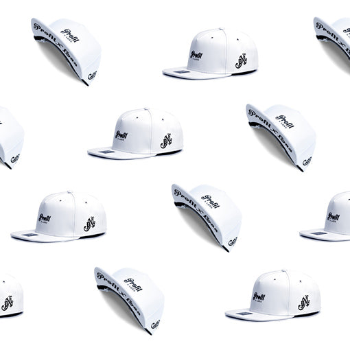 white leather strapback