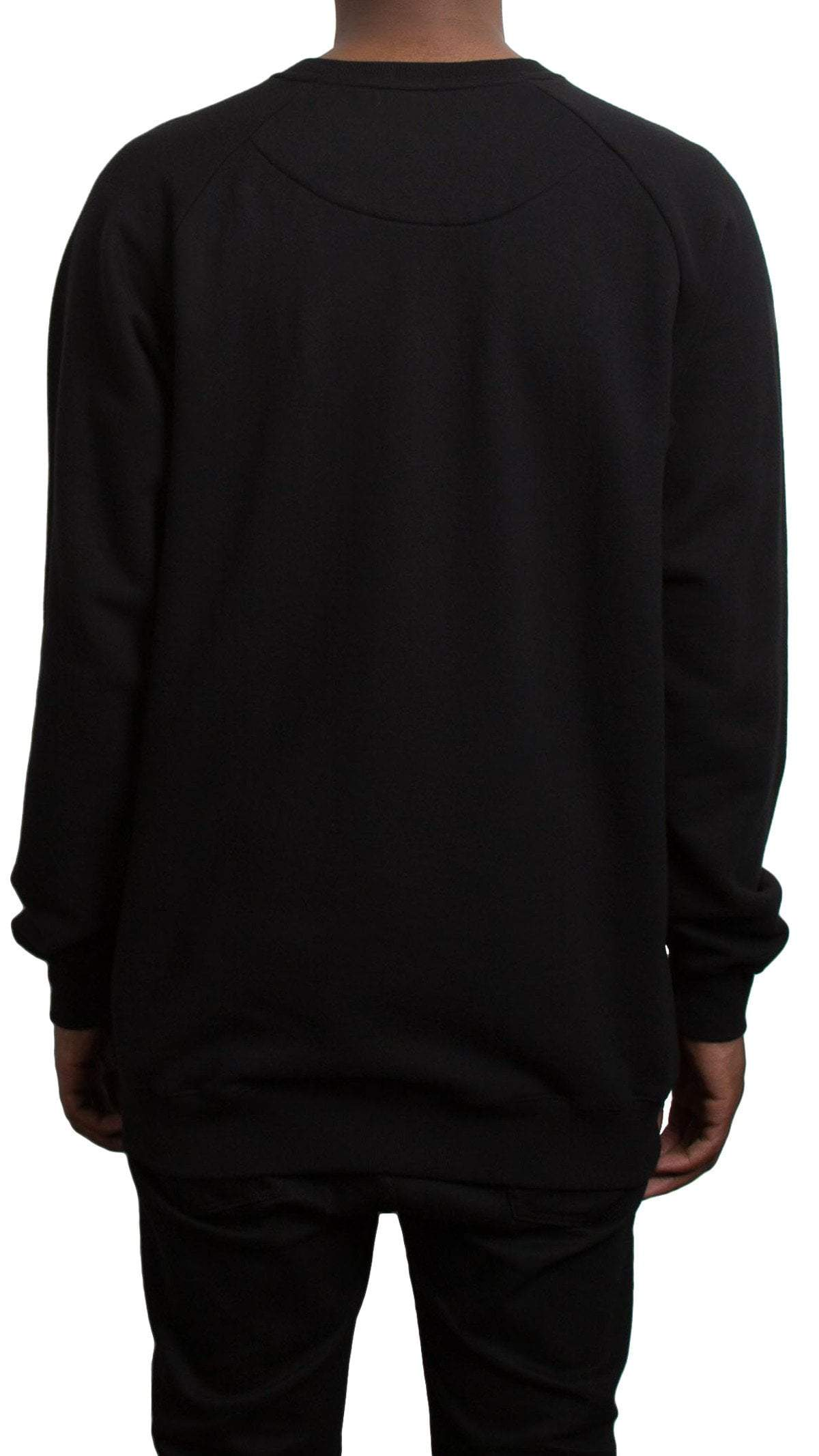 profitxloss.com Crew Neck Select Size / Black/ Red SCRIPT - RAGLAN SWEATSHIRT