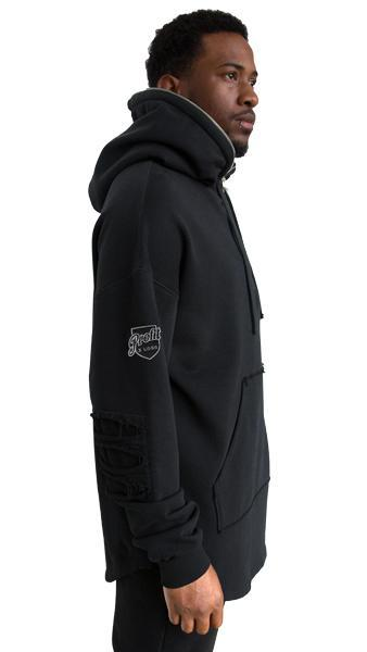 profitxloss.com Hoody Select Size / Black DISTRESSED TRACKSUIT HOODIE (BLACK)