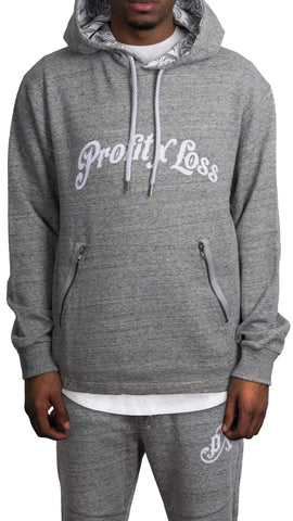 profitxloss.com Hoody Select Size / Heather grey PROFIT ARCH - TRACKSUIT HOODIE (HEATHER GREY)