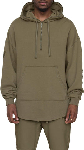 profitxloss.com Hoody Select Size / Olive DISTRESSED - TRACKSUIT HOODIE (OLIVE)