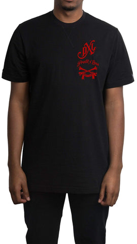 profitxloss.com Shirts Select Size / Black/ Red GOTHIC - TSHIRT (RED)