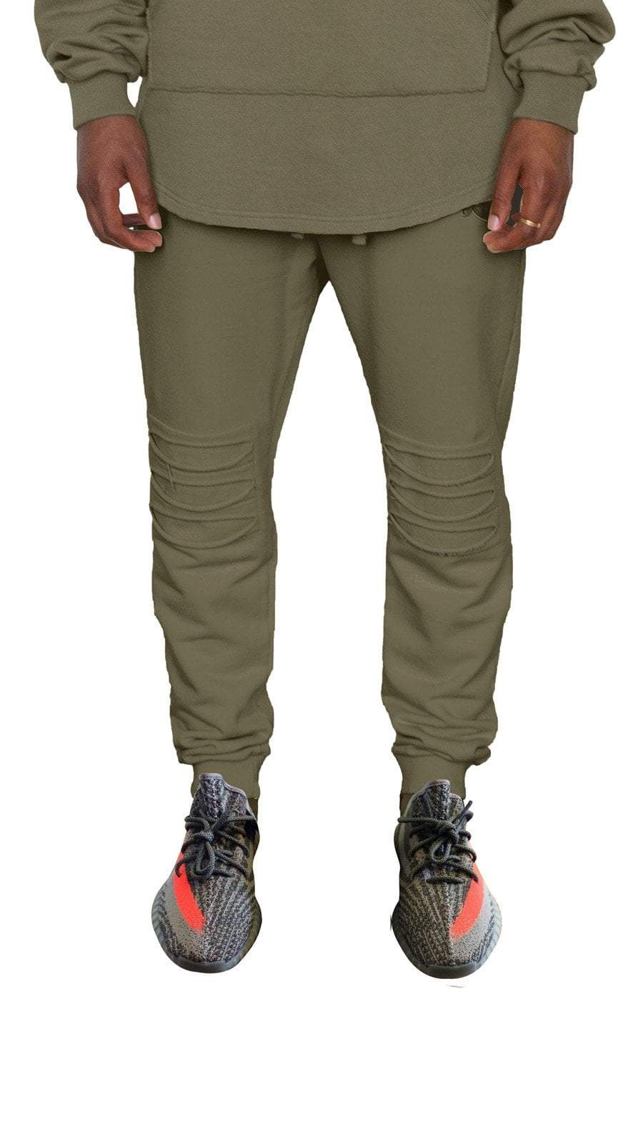 profitxloss.com tracksuit Select Size / Olive DISTRESSED - TRACK PANTS (OLIVE)