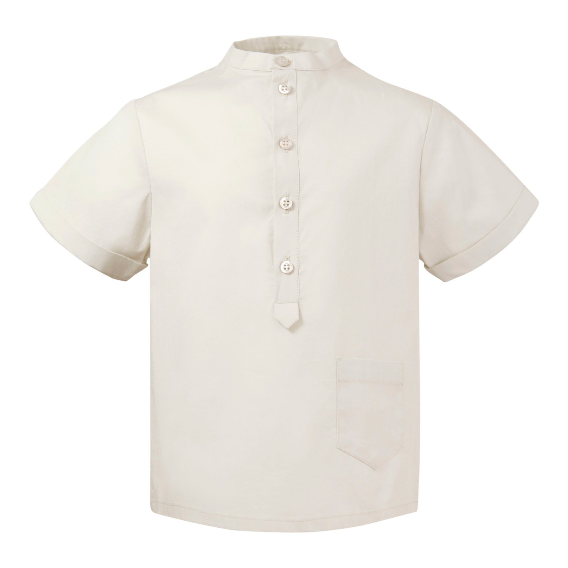 shirt in beige poplin cotton