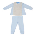 outfit in light blue cotton jacquard